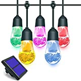 2018 Solar String Lights Outdoor 12 Colored LED/White & Color Changing LED Waterproof/Patio Lawn Landscape Lighting