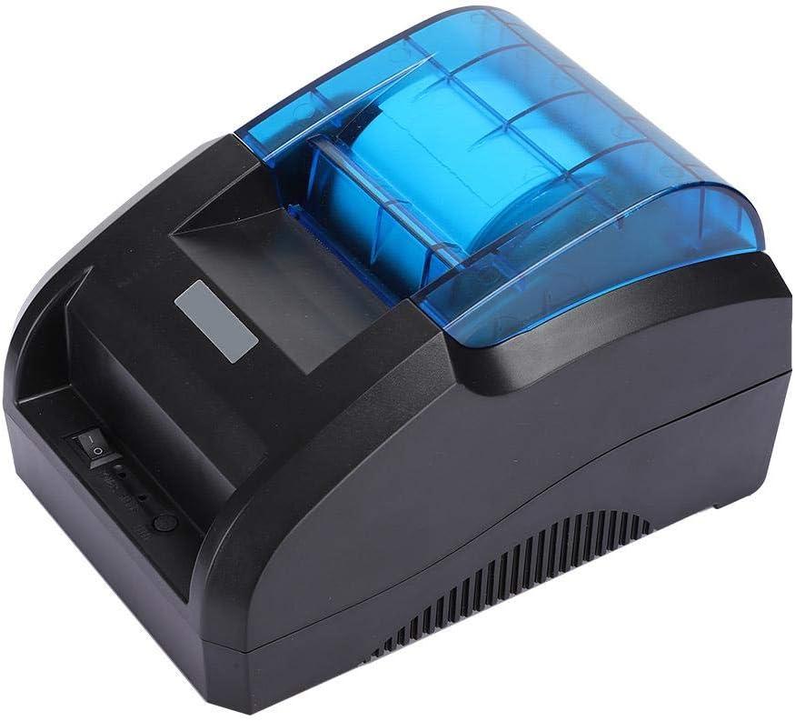 Dpofirs 90 mm/s Impresora Térmica de Recibos, 58mm 203DPI Impresora Térmica Bluetooth Micro USB,Mini Alta Velocidad Impresora Térmica Universal para Librería,Tienda de Ropa,Catering,Supermercado(EU)