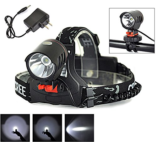 Welltop® Headlights 2000Lm XM-L XML T6 LED 18650 3Mode Touch Shift Touchable Headlamp Headlight Bike Light 2 In 1