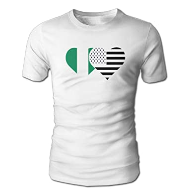 YOIGNG Hawaiian 3D Printed Nigerian Flag and American Flag T-Shirt Short Sleeve Crewneck Tee Pullover Casual Tops | Amazon.com