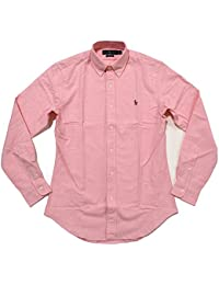 Mens Slim Fit Stretch Oxford Buttondown (Large, Pink)