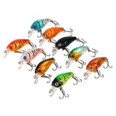 Features: 1. Bright colors to attract big fish  2. They create life-like swimming action in water  3. A helpful fishing tool for anglers to hit the fish  4. Suitable for Saltwater & Freshwater fishing   Specifications: Color: 9 different...