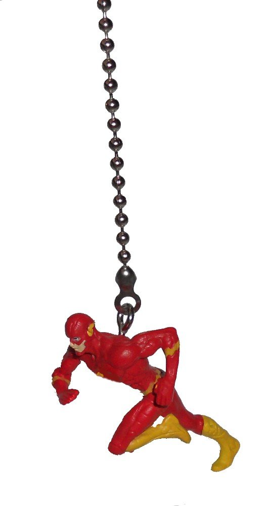 The FLASH superhero super hero DC comics vinyl Ceiling FAN PULL light chain