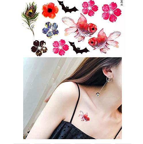 Tatuajes Temporales Niños Lol Belleza Pequeña Flor Mariposa ...