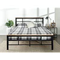 Zinus Urban Metal and Wood Platform Bed with Wood Slat Support , Full