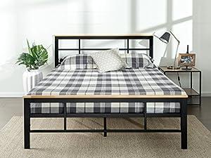 Amazon Com Zinus Urban Metal And Wood Platform Bed With