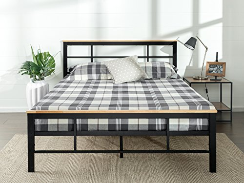 Zinus Urban Metal and Wood Platform Bed with Wood Slat Support, Full by Zinus