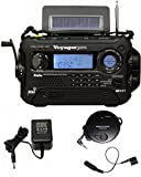 KA600 BLACK Solar/Crank AM/FM/SW NOAA Weather Radio, BONUS AC adapter/charger, Bonus Reel Antenna, 5-LED reading lamp, 3-LED flashlight
