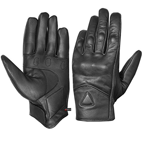 Men's Premium Leather Street Motorcycle Protective Cruiser Biker Gel Gloves L by Jackets 4 Bikes (Image #7)
