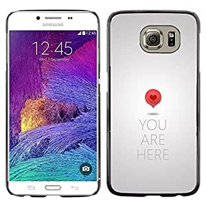 LECELL--Funda protectora / Cubierta / Piel For Samsung Galaxy S6 SM-G920 -- Heart Love Metal Grey Quote --