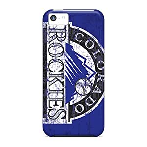 Snap-on Colorado Rockies Case Cover Skin Compatible With Iphone 5c by icecream design