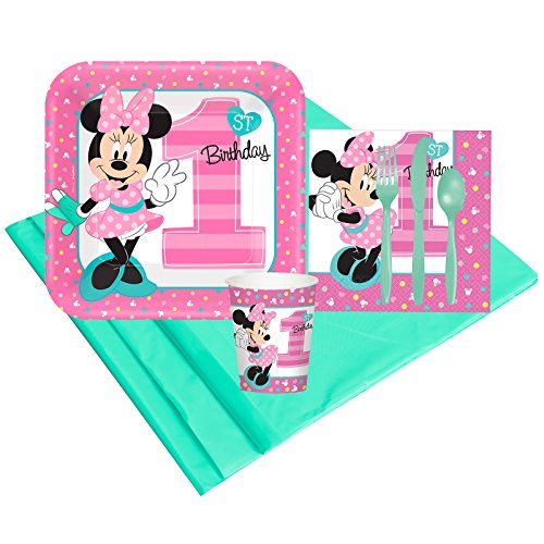 Disney Minnie Mouse 1st Birthday Party Supplies - Party Pack for 8 Guests for $<!--$21.09-->