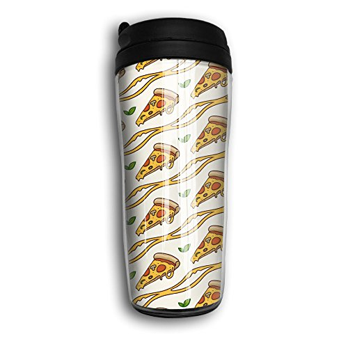 CUP HOME Pizza Food Wave Stripe Adults Children Insulation Heat Insulation Travel Thermos Coffee Mug