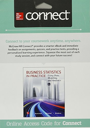 Connect Access Card for Business Statistics in Practice