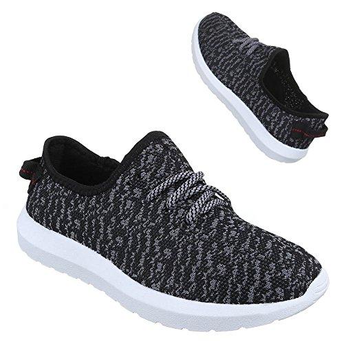Ital-Design - Zapatillas Hombre Negro - negro