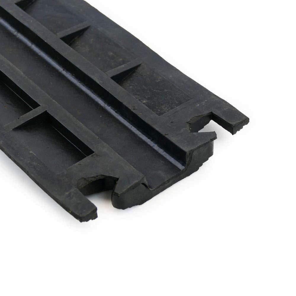 Kit 3 Pasacables de goma para suelo protecci/ón de Cables el/éctricos de 1 v/ía 102x13cm protector de cables//pasacables de goma flexible para colocar en el suelo