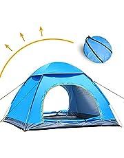 LIVEHITOP Pop Up Zelt Wurfzelte 4/3 /2 Personen Große XXL, Tragbar Automatisch Schnellaufbau Zelte UV Schutz für Outdoor, Strand, Camping, Familie, Garten, Sommer, 200x200x125cm (Blau)