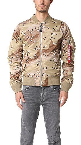 Alpha Industries Men's Exclusive Reversible MA-1 Double Camo Jacket, Woodland Double Camo, X-Large (Woodland Nylon Camo Reversible Jacket)