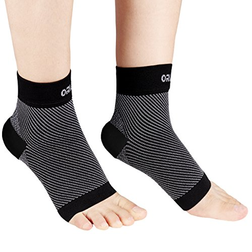 ORIA Plantar Fasciitis Socks, Compression Foot Sleeves Socks, Arch Support & Ankle Brace Support, Recovering Heel & Increase Blood Circulation, Ankle Pain Relief for Men & Women (1 Pairs, Large Size)