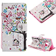 Cistor Strap Flip Case for Samsung Galaxy S9 Plus,Stylish 3D Art Painted Stand Wallet Case for Samsung Galaxy S9 Plus,Shockproof Slim Fit PU Leather Case with Card Slot Magnetic Closure Ring Holder,Flower Tree Girl