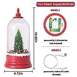 Melunar Christmas Snow Globe Lantern with Swirling