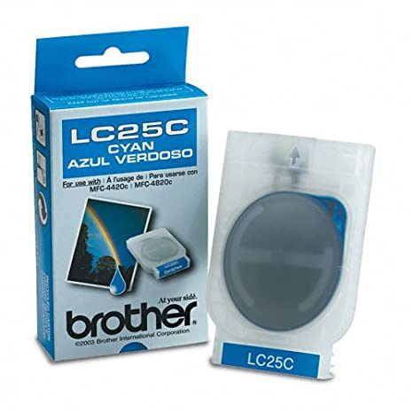 Brother LC25C - Cartucho de tinta para impresoras (Cian, Estándar ...