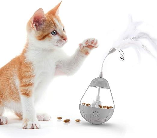 DADYPET Juguetes para Gatos Interactivos de Plumas, Pelota ...