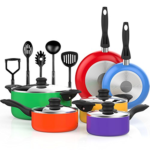 Vremi VRM030012N Cookware-Sets, 15 Piece, Multicolor