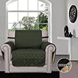 Sofa Covers, Slipcovers, Reversible Quilted Furniture Protector, Improved Anti-Slip Cover with Elastic Strap and Foam, Micro Fabric Couch Shield, Pet Cover by Easy-Going(Sofa, Dark Gray/Light Gray)