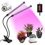 LED Grow Light Bulb Timing Function, Dual Head Grow Lamp for Indoor Plants Vegetables and Seedlings, Plant Lights Bulb for Hydroponics Garden Greenhouse and Organic Soil [2018 Upgraded]