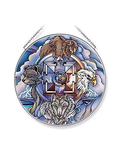 Amia Medicine Wheel, Wildlife Glass Suncatcher, Multicolored (42694)