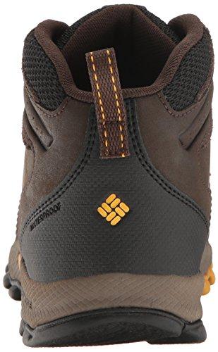 Columbia Youth Newton Ridge, Zapatillas de Senderismo para Niños Marrón (Cordovan/ Golden Yellow)