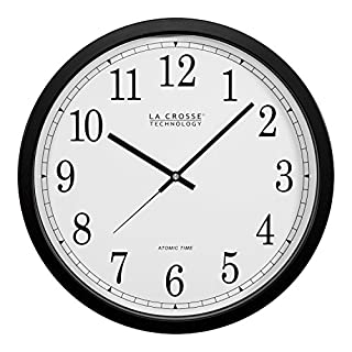 La Crosse Technology WT-3143A 14-Inch Atomic Wall Clock, Black (B0002WZRJK) | Amazon Products