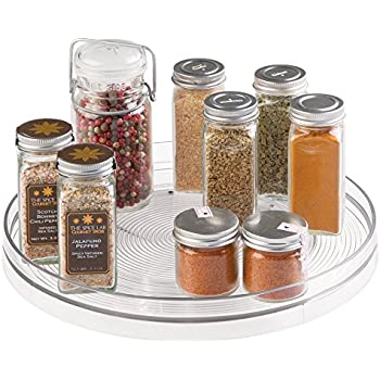 MDesign Lazy Susan Turntable Spice Organizer For Kitchen Pantry, Cabinet,  Countertops   Large,