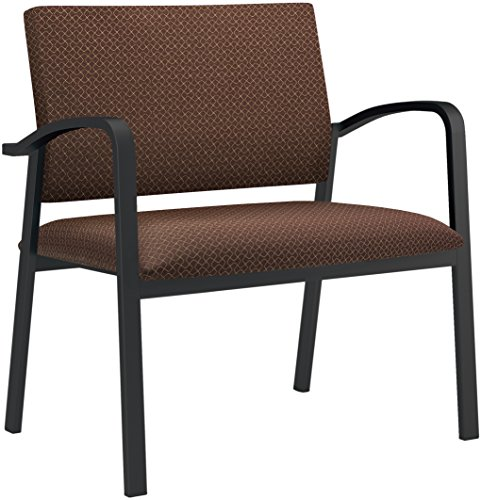 Lesro Newport Designer Fabric Bariatric Guest Chair, Axis Truffle, Black (Chair Axis)
