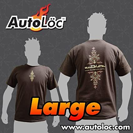 AutoLoc Power Accessories Short Sleeve Pinstripe T-Shirt Brown, Medium