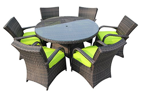 SMU Luxury 6 seater Rattan Patio Dining Set Patio Garden Furniture Set (6 Seater Rattan Garden Furniture Sets)