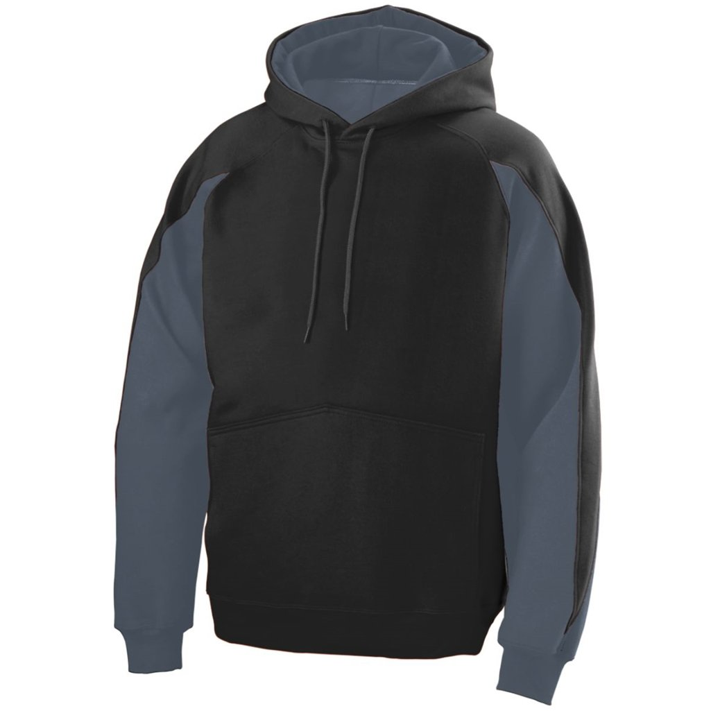 Augusta Youth Volt Hoody- Style 5461 (Small, Black/Graphite)