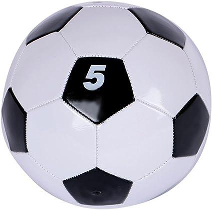 ZHUOTOP Pelota de fútbol de PVC clásica, color blanco y negro ...