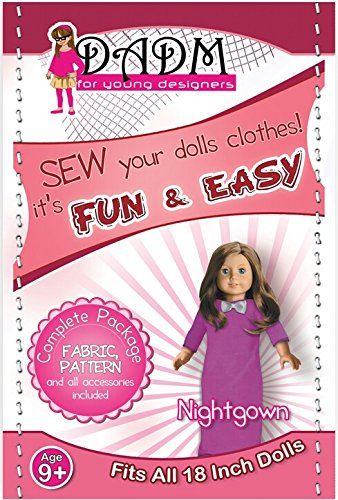 18 Inch Doll Nightgown Sewing Kit for Girls