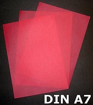 100 Feuilles Format A7 Zanders Spectral Papier G M Couleur Rouge