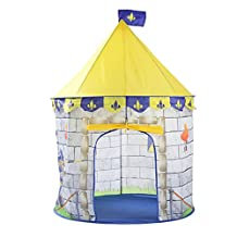 uxcell® Princess Castle Child Play Tent - Indoor and Outdoor Children Playhouse Use - Foldable Pop Up play tent with Carrying Bag - Makes Perfect Gift for Boys and Girls