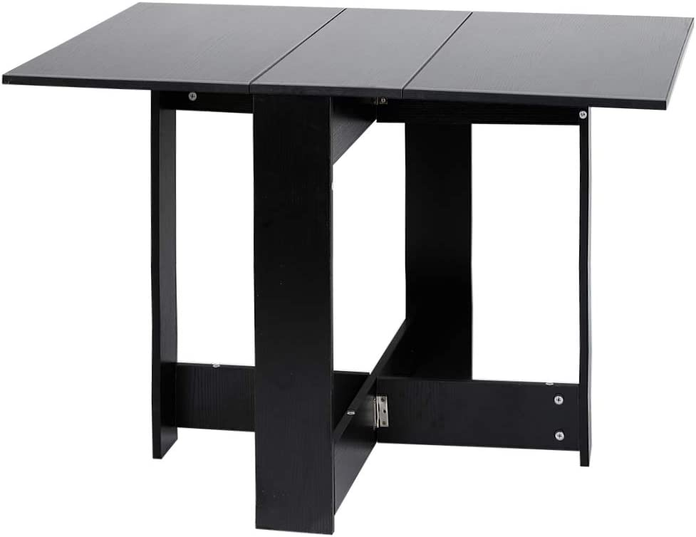 72cm 76 Black Turefans Foldable Dining Table,Kitchen Table,102.5