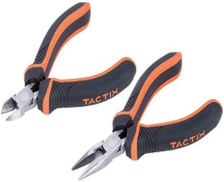 XY-YZGF - Juego de mini alicates multifunción para reparación del hogar, es decir, mantenimiento industrial al aire libre, 2 piezas, 4 pulgadas (color: naranja negro, tamaño: 4 pulgadas)