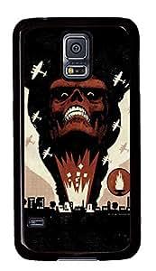Samsung Galaxy S5 Red Skull PC Custom Samsung Galaxy S5 Case Cover Black