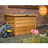 Wooden Overlap Dip Treated Garden Patio Storage Box Tool Shed Chest Container
