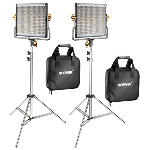 Light Single Kit - Neewer 2-Pack 480 LED Video Light with 78.7-inch Stainless Steel Light Stand Kit: Dimmable Bi-color LED Panel with U Bracket (3200-5600K,CRI 96+) for Photo Studio Portrait, YouTube Video Photography