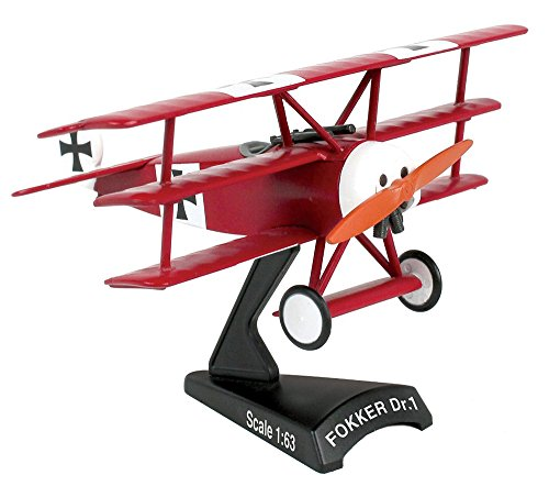 Postage Stamp Planes - Daron Worldwide Trading Fokker DR.I 1:63 Red Baron Vehicle