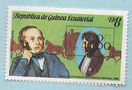 Equatorial Guinea Postage Stamp Sir Rolland Hill 8 (Used)