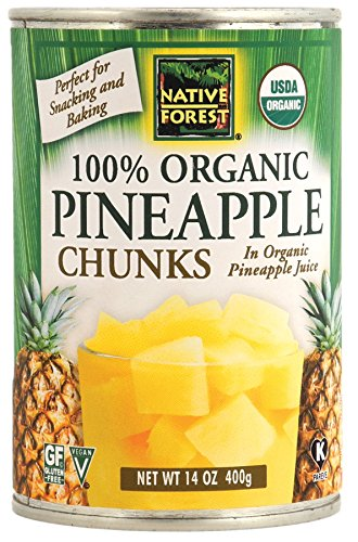 Native Forest Organic Pineapple Chunks, 14 Ounce Cans (Pack of 6) ()
